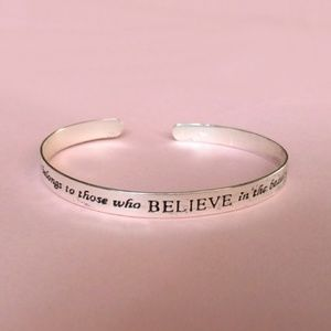 Jewelry - Sterling silver cuff bracelet believe dream future